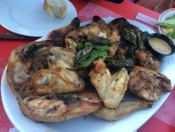 Parrillada de pollo