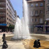 Glorieta de Compostela - Fuente de los niños