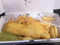Traditional fish and chips with nice view on Harbour