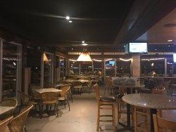 patio bar area