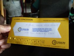 Ticket Booklet.