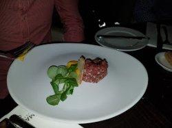 starter - Beef tartare - excellent.
