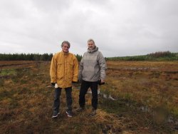 Two visitors from Normandy, France who took a Turf Bog Tour