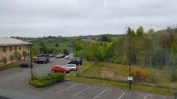 Car park from the hotel