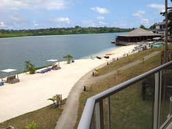 Fantastic location and views, white sand, restaurant top right of photo with swiming pool.