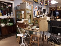 all kinds of antiques and collectibles in the shop for your treasure hunt
