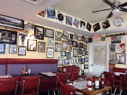 Inside view of Double S Diner.