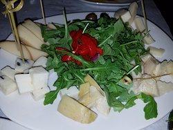 Nice cheese plate--avoid the bitter arugula