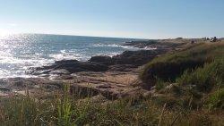 la balade le long de la plage