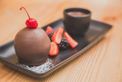 Tartufo - Italian ice cream dipped in chocolate