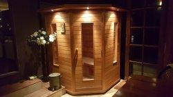 Our beautiful little private sauna