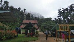 Scenary behind the resort