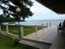 Terraza con vistas al lago