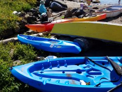 Children's kayaks.