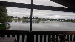 Beautiful lodge at the water's edge