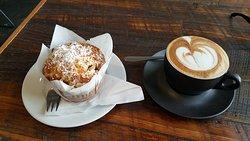 Nice coffee.. brilliant setting.. friendly staff