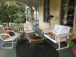 外観、朝食、テラス、庭、階段の天井