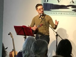 DVAA hosts literary readings, intimate performances, and conversations with artists.