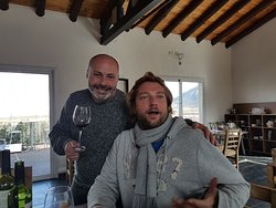 with Javier, wine lover & owner of the restaurant