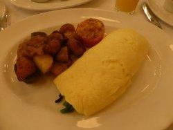 omelette jardiniere, marble potato hash
