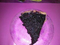 tarte aux myrtilles(trop sucrée, ce qui en gâche le goût.