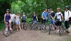 Bike tour through the Divoka Sarka natural reserve in Prague.