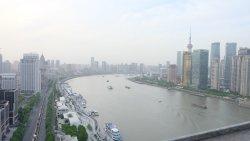Splendid view of Shanghai skyline.