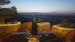 Amazing sunset drinks and dinner!