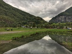 view from fjord towards marina
