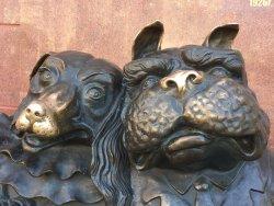 Sculpture Walking Dogs