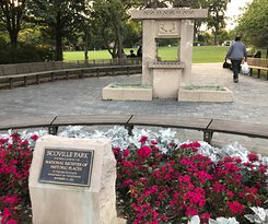 Scoville Park (Historic Register) near the Library. A monument to World War I Soldiers.