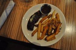 Hanger steak and fries