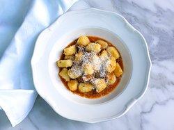 Potato gnocchi, oxtail ragu and parmasan