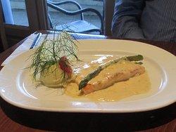 Salmon dinner at Franzini's