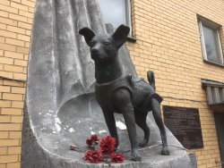 ‪Monument to the Dog Laika‬