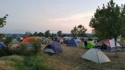 tents every few feet.