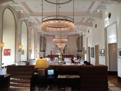 The main dining room in Hotel Esplanade.