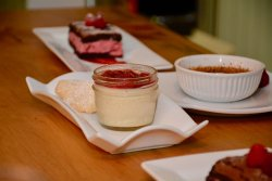Desserts faits par la pâtissière maison