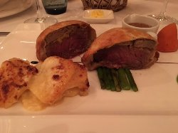 Beef Wellington - cooked medium