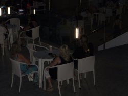 Sun Terrace set up for evening entertainment