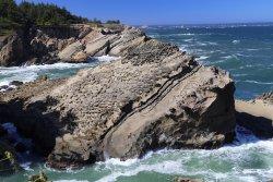 interesting rocks along the coast of the garden