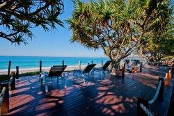 Beachfront deck area