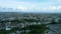 市役所の正面右上に飛び出た360℃眺望が楽しめる展望台