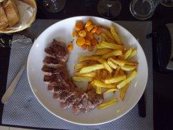 magret de canard / frites légères