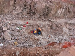 Professionals in the mine area. Oll limits to public.
