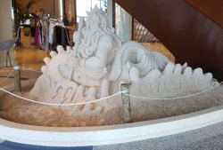 Sand Sculpture in Lobby