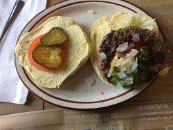 Moose Burger with Homemade Bun