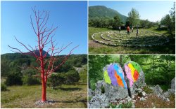 Land Art Trail on Mt. Ucka