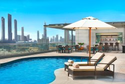 Rooftop pool at the Executive Residences.