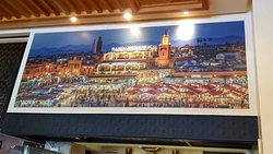 painting of the main square inside Argana